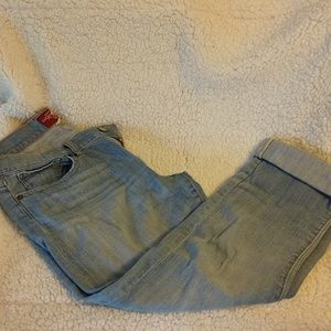 Women's cropped lucky jeans